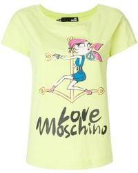 Love Moschino - Logo Patch T-shirt - Lyst