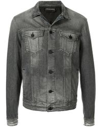 Emporio Armani - Slim-fit Denim Jacket - Lyst