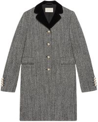 Gucci - Single-breasted Wool Coat - Lyst