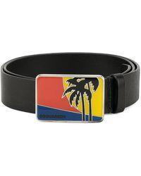 DSquared² - Palm Tree Buckle Belt - Lyst