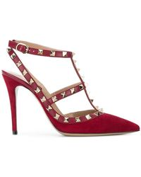 Valentino - Garavani Rockstud Court Shoes - Lyst