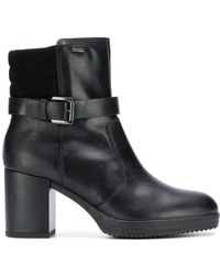 Geox - Buckled Ankle Boots - Lyst