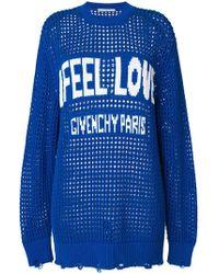 Givenchy - Feel Love Slogan Logo Jumper - Lyst