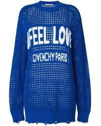 Givenchy | Feel Love Slogan Logo Sweater | Lyst