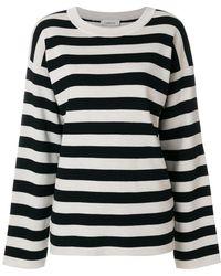 Laneus - Striped Knit Jumper - Lyst