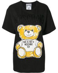50004655b19 Philipp Plein Pets Teddy Bear T-shirt in Black - Lyst