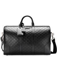 Gucci - Borsa Da Viaggio In Pelle Signature - Lyst