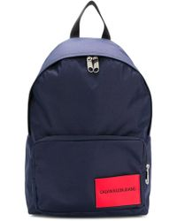 Calvin Klein Jeans - Logo Patch Backpack - Lyst