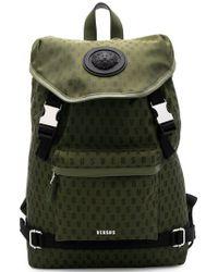 Versus - Logo Buckle Backpack - Lyst