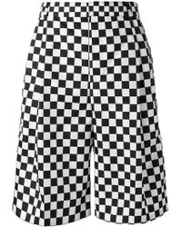 Givenchy - Checkered Print Shorts - Lyst