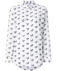 Equipment - Heart Print Shirt - Lyst