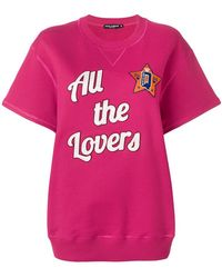 Dolce & Gabbana - All The Lovers Short Sleeved Sweatshirt - Lyst