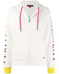 Perfect Moment - Logo Patch Zipped Hoodie - Lyst