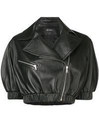 Yigal Azrouël - Cropped Biker Jacket - Lyst