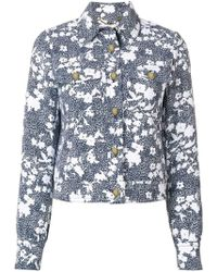 MICHAEL Michael Kors - Printed Denim Jacket - Lyst