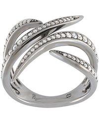 Eshvi | 18kt White Gold Ring With Black Rhodium Plate | Lyst