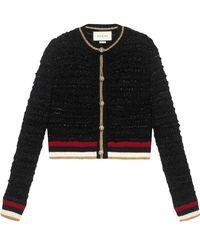 Gucci - Cardigan mit Webstreifen - Lyst