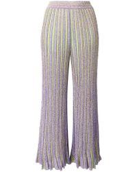 Missoni - Glitter Striped Trousers - Lyst 569909187
