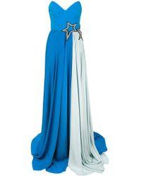 Francesco Paolo Salerno - Star Embellished Evening Dress - Lyst