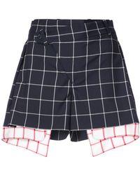 Monse - Plaid Contrast Shorts - Lyst