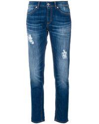 Dondup - Distressed Straight-leg Jeans - Lyst