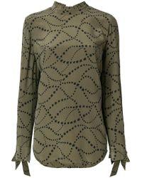 Equipment - Star Print Tie Sleeve Blouse - Lyst