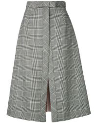 Thom Browne - Prince Of Wales Bow Vent Skirt - Lyst