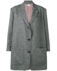 Thom Browne - Supersized Donegal Tweed Sack Jacket - Lyst