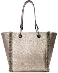 Brunello Cucinelli - Metallic Fringed Tote - Lyst