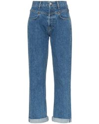 RE/DONE - Yoke Waist Straight-leg Jeans - Lyst