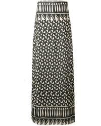 Alberta Ferretti - Maxi Printed Skirt - Lyst