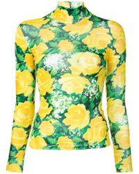 Richard Quinn - Floral Print Jersey - Lyst