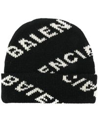 Balenciaga - All Over Beanie Hat - Lyst