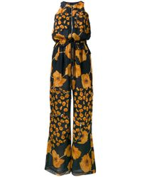 Paul Smith - Floral Print Zipped Jumpsuit - Lyst