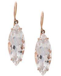 Andrea Fohrman - 18kt Rose Gold Rock Crystal Marquis Earrings - Lyst