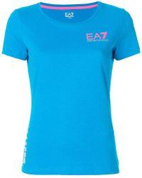 EA7 - Logo T-shirt - Lyst