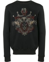 Billionaire - Textured Print Sweatshirt - Lyst