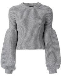 Alexander Wang - Puff Sleeve Knit Jumper - Lyst