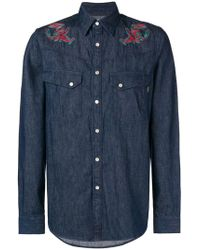 PS by Paul Smith - Lobster Embroidered Shirt - Lyst