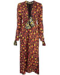 Proenza Schouler - Wildflower V-neck Dress - Lyst