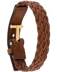 Tom Ford Bracelet en cuir tressé - Marron