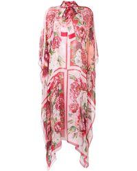 Dolce & Gabbana Peony And Rose Print Chiffon Kaftan