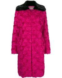 Emilio Pucci - Contrast Oversized Coat - Lyst