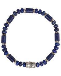 John Hardy - Silver Classic Chain Lapis Lazuli Bead Bracelet - Lyst