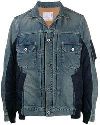 Sacai - Contrasting Denim Jacket - Lyst