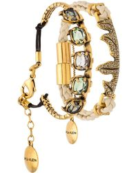 Camila Klein - Leather Trim 2-bracelet Set - Lyst