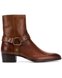 Saint Laurent - Stiefel mit Reißverschluss - Lyst