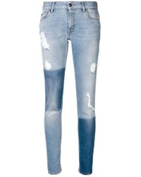 Just Cavalli - Distressed Skinny Jeans - Lyst e6a1adecd