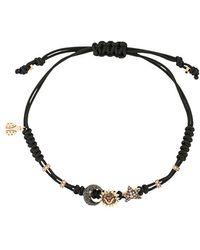Pippo Perez - 18kt Black Gold, Diamond And Sapphire 3 Charm Bracelet - Lyst