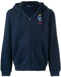 Polo Ralph Lauren - Embroidered Teddy Cardigan - Lyst